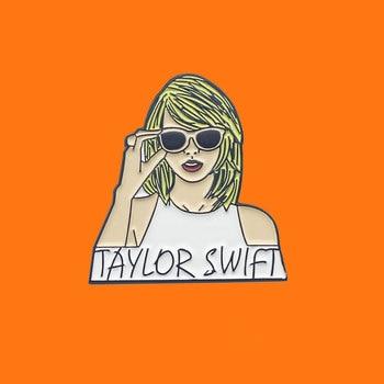 Swift Taylor Enamel Pins Pop Singer Metal Cartoon Brooch Backpack Hat Bag Collar Lapel Badges Women Fashion Jewelry Gifts