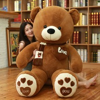 80/100cm 4 Colors Teddy Bear with Scarf Stuffed Animals Bear Teddy Bear Lovers Baby Plush Doll Toy Kid Gift