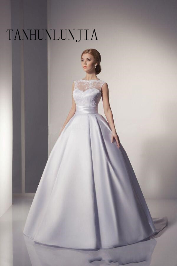 2020 Ivory Lace Wedding Dress A Line Sweetheart Backless Long Bridal Gowns New Arrival Ball Gown Vestido