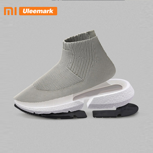 Мужские кроссовки с высоким берцем Xiaomi, летняя Вулканизированная обувь, дышащие слипоны, легкие кроссовки Uleemark 118189035