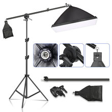 Softbox Lighting Kit, 5070cm SoftBox with Socket Continuous Photography Lighting Tripod Kit for YouTube Vide