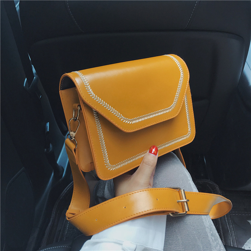 New Leather Crossbody Bags For Women 2020 Wide Strap Shoulder Small Messenger Bag Lady Travel Luxury Handbags And Purses