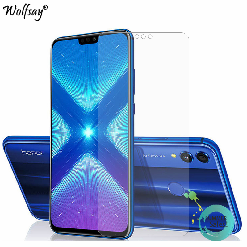 2PCS Glass For Huawei Honor 8 Screen Protector Tempered Glass For Huawei Honor 8X Glass For Honor 8 Honor 8X 8 X Protective Film