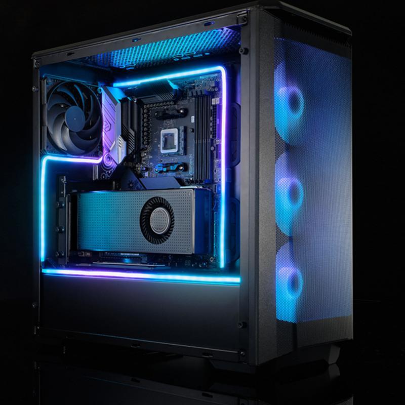 550 мм светодиодный светильник ленты цифровой RGB 3Pin ПК компьютер Чехлы контроллер 5v гибкие стабильный ленточный Соединительный с легкостью п...