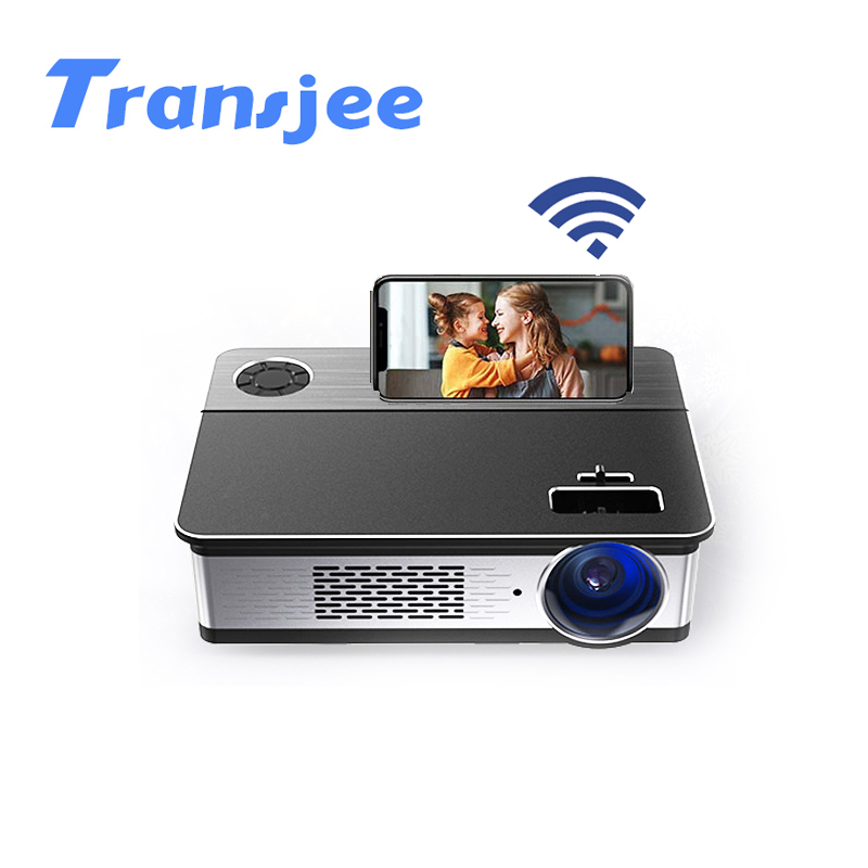 TRANSJEE Native 1080p Support 4K Projector Full HD Movie 3D Android LED Portable WIFI Projecor 1920x1080 5800 Lumen Bluetooth image
