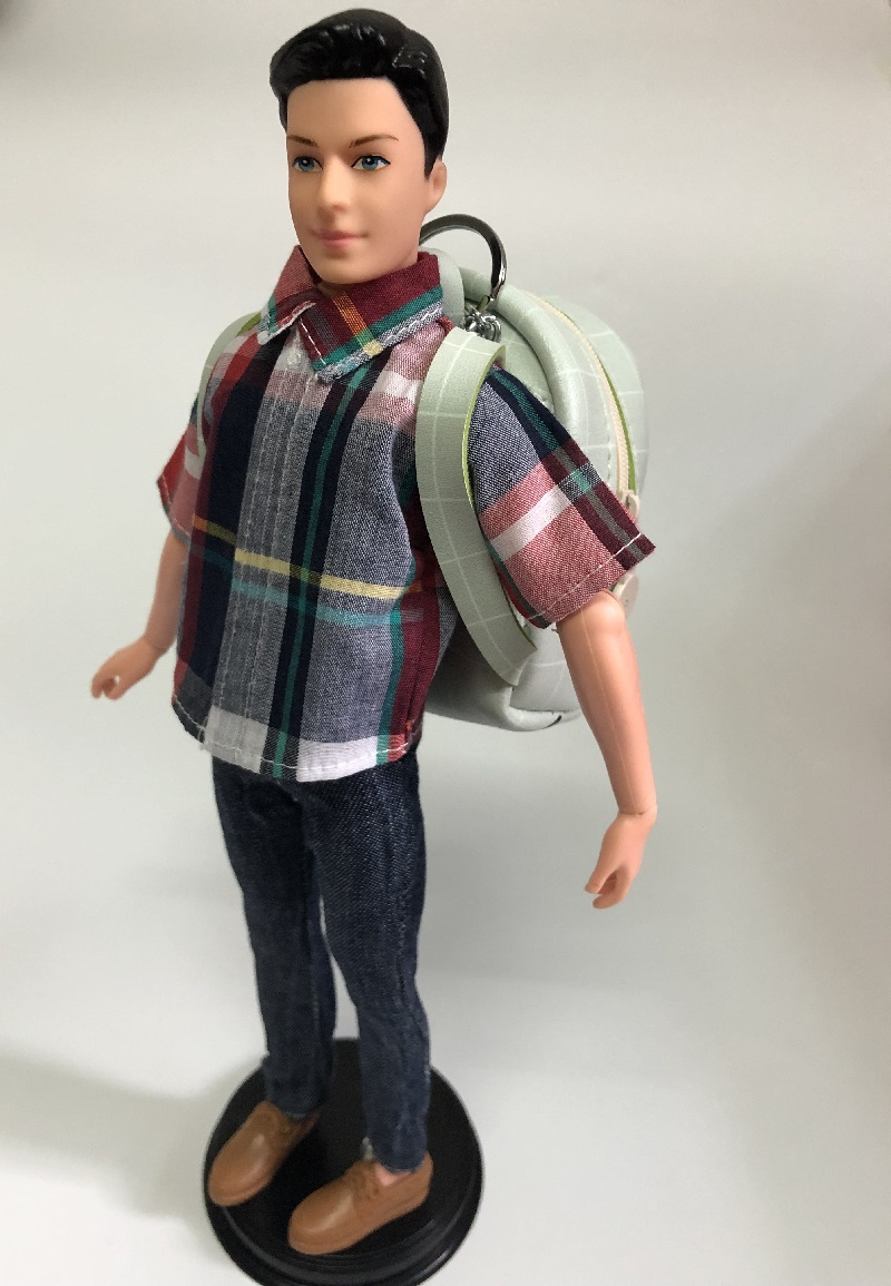 1pcs backpack for barbie boyfriend ken 1/6 original boneca BJD PU handmade school bag travel doll house accessories cute Pendant