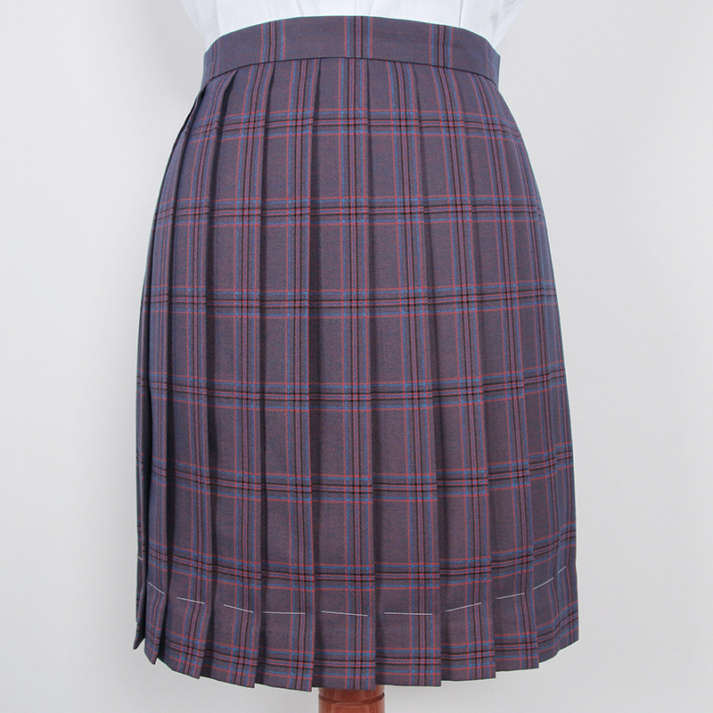 JK School Uniform Women Deep Purple Plaid Skirt High Waist Skinny Mini A-line Skirts