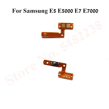 Original Power ON/OFF Flex cable For Samsung E5 E5000 E7 E7000 Power Side Button Key Replacement parts image