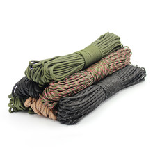 5 Meters Dia.4mm 7 Stand Cores Parachute Cord Lanyard Outdoor Camping Rope Climbing Hiking Survival Equipment Tent Accessories