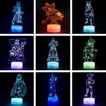 Figura de acción de Fortress Night 3D illusion, lámpara, Caballero Yond3r, Rey hielo, Batalla, Royale, luz, juguetes para niños, luz para dormir