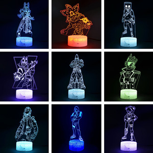 Image 1 - Fortress Night 3D illusion Action Figure Lamp Knight Yond3r Ice King Battle Royale Figurine Light Up Toys Kids Sleeping Light