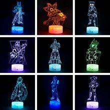 Kale gece 3D illusion aksiyon figürü lamba şövalye Yond3r buz kral savaş Royale heykelcik Light Up oyuncaklar çocuklar uyku ışık