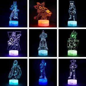 Image 1 - قلعة ليلة ثلاثية الأبعاد الوهم عمل الشكل مصباح فارس Yond3r الجليد الملك معركة رويال تمثال تضيء لعب الاطفال ضوء النوم
