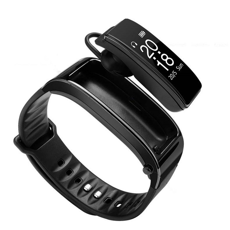 Bluetooth Y3 écouteurs parlent Bracelet de bande intelligente moniteur de fréquence cardiaque sport montre intelligente passomètre Fitness Tracker Bracelet d25