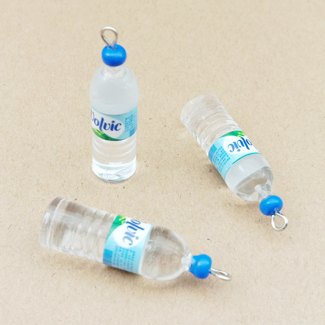 10Pcs Simulation 10x35mm Water Bottle Resin Earring Charms Pendant Bracelet Necklace Jewelry Accessories DIY Craft 4
