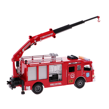Fire Engine Truck Fire Car Crane 1:50 for Kids Construction Toy Ornament image