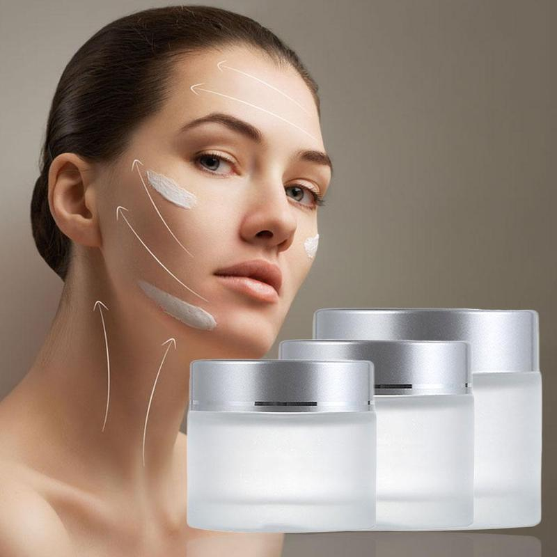 1 Pc Frosted Glass Refillable Ointment Bottles Empty Cosmetic Jar Pot Eye Shadow Face Cream Container 5/10/15/20/30/50/100g
