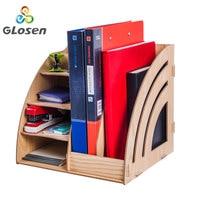 Paper Storage Trays Desk Organizer Tray Desktop Magazine Holder Book Display Stand School Desk Accessories Glosen D9113