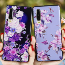 Untuk Huawei P30 Lite Case 3D Bunga Emboss PC + TPU Phone Back Cover P20 Pro P10 Lite P Smart 2018 2019 Plus Funda P20 Lite Tritone(China)