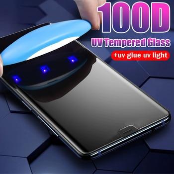 Protector de pantalla de cristal templado UV nano Liquid glue para Samsung Galaxy Note 20 10 pro s10 5G lite S20 ultra S10 plus, película de cristal