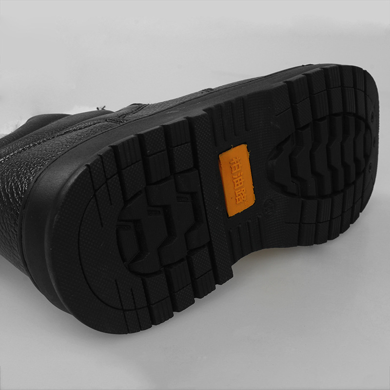 Factory Price Wearable Anti-smashing And Anti-penetration Anti-slip Plus Velvet Paul Warm Hight-top Snow Boots Safety Shoes Outd