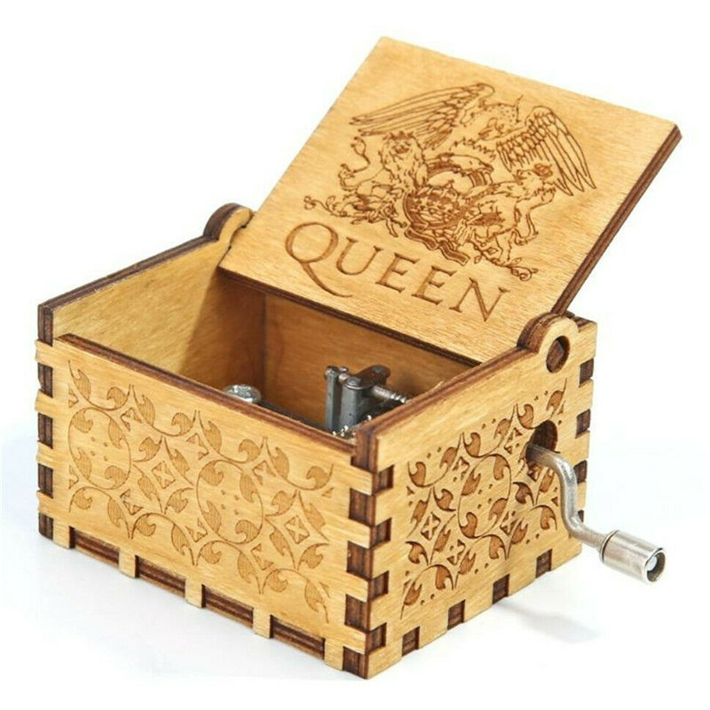 New Carved Queen Music Box Star Wars Game of Throne Castle In The Sky Hand Cranked Wood Music Box Christmas Gift image