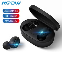 Wireless Bluetooth Earphones TWS Bluetooth 5.0 Stereo Earbuds With Mic Handsfree Tap Control for Xiaomi Redmi iPhone Smartphone a6s tws bluetooth 5 0 earphones stereo wireless noise cancellation with mic handsfree earbuds for iphone xiaomi redmi