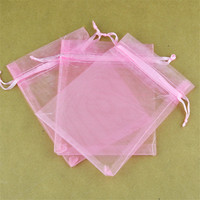 500pcs/lot Pink Organza Bags 15x20cm Jewelry Boutique Candy Gifts Packaging Bags Organza Pouch Wedding Favor Drawstring Gift Bag