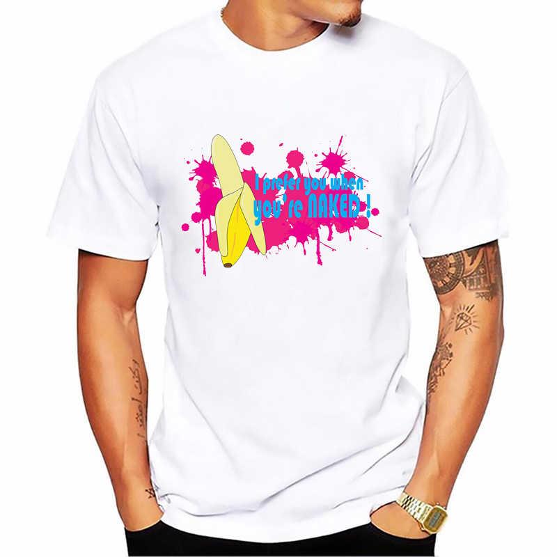 Mannen T-shirt Banaan Disrobe Grappig Ontwerp Print T-shirts Unisex Zomer Humor Joke Hipster Tshirt Wit Casual Top Tee streetwear