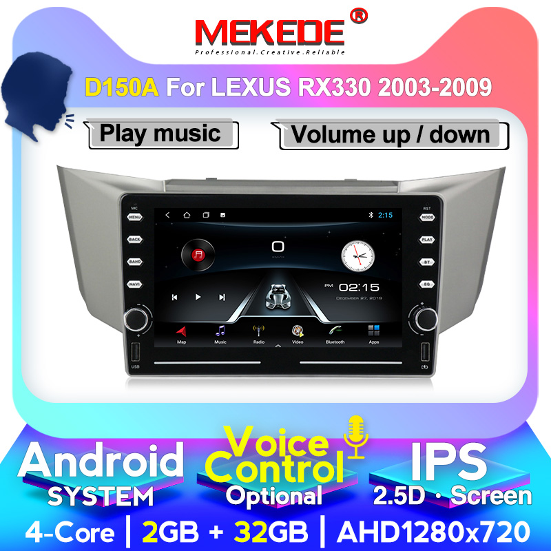Voice control For <font><b>Lexus</b></font> RX300 <font><b>RX330</b></font> Toyota harrier 2003-2009 Car Radio Multimedia Video Player Navigation GPS <font><b>Android</b></font> No 2din image