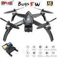 Novo mjx bugs 5 w b5w gps brushless rc zangão com 5g 4 k wifi fpv hd câmera de ajuste automático quadcopter vs h117s rc helicóptero