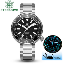 STEELDIVE 1000M Diver Watch Men NH35 Sapphire Crystal Automatic Watch NO LOGO Stainless Steel Watch Mechanical C3 BGW9 Luminous