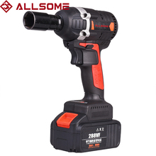 Brushless Impact Wrench Power-Tool Li-Ion-Battery 288VF 600NM ALLSOME Charger-Sleeve