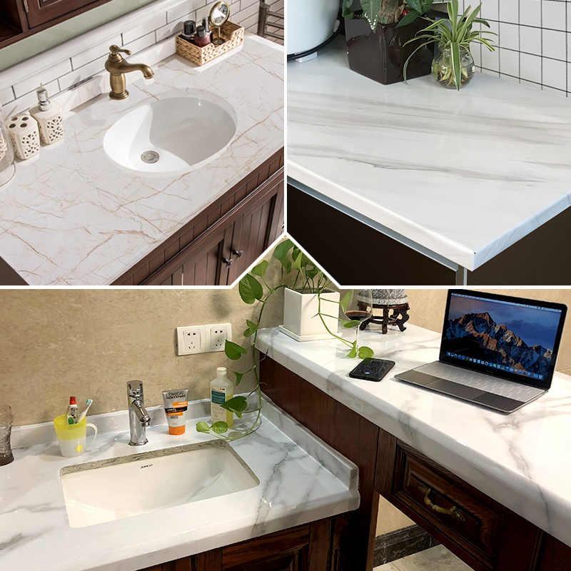Papel de parede adesivo de pvc, papel de parede decorativo branco pérola, faça você mesmo, adesivos de renovação de móveis, armário de cozinha, papel de parede à prova d' água
