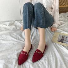 202 wiosna nowe wszystkie mecze wskazał płytkie usta płaskie buty jedna stopa duże rozmiary obuwia damskiego tanie tanio LTYKCY Buty łodzi CN (pochodzenie) Flock RUBBER Slip-on Pasuje prawda na wymiar weź swój normalny rozmiar Na co dzień