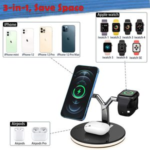 Image 4 - 25W 3 in 1 Magnet Qi Fast Wireless Charger For Iphone 12 Mini Pro MAX Charging Station For Apple Watch 6 5 4 3 2 1 AirPods Pro