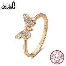 Женское кольцо с бабочкой effie queen из серебра 925 пробы фианитом
