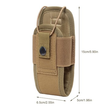 Tactical Molle Radio Pouch Military Walkie Talkies Holster Bag Waist Bag Holder Pocket Interphone Holster Carry Bag For Hunting 3
