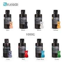 ELEGOO z możliwością mycia wodą 3D drukarki żywica LCD UV utwardzana żywica 405nm standardowe fotopolimerowych do żywica dla LCD 3D drukowanie 1000ml 8 kolorów