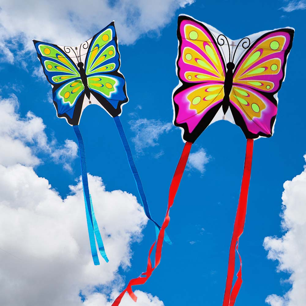 Beautiful Butterfly Kite  Kids Toys Long Tail Butterfly Flying Bird Kite Outdoor Toy Easy Fly Kite Without Kite Line
