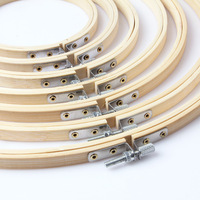 Sewing Tool Round Wooden Embroidery Hoops Frame Set Bamboo Embroidery Hoop Rings for DIY Cross Stitch Needle Craft Tool