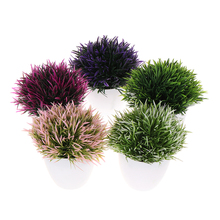 Potted-Grasses Artificial-Plant-Bonsai Small Art-Craft Bromeliad Room/hotel-Decorations