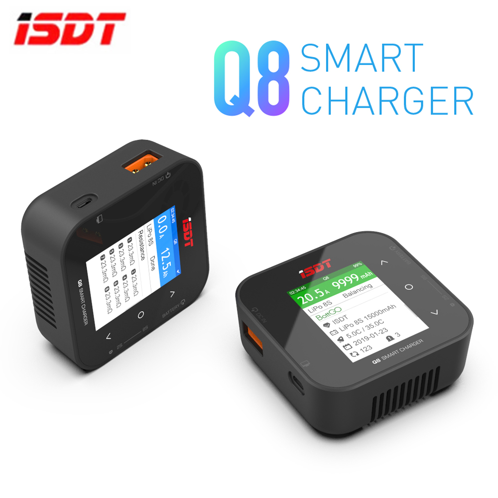 NEW ISDT Q8 BattGo 500W 20A High Power Battery Balance Charger Discharger For 1-8S Lipo Battery For RC FPV Drone