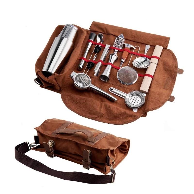 Бесплатная доставка, барная сумка для инструментов, Mixology Bag, профессиональная сумка для бармена, пустая сумка