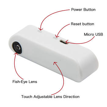 LILYGO® TTGO T-Camera Mini Camera Module ESP32 Chip 4MB flash 8MB PSRAM Micro USB Touch Adjustable Fish-Eye Lens Direction