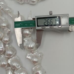 Image 5 - Perla suelta 100% de agua dulce de 16 pulgadas, con forma Barroca en hebra, Perla de Gran barroco de 15 27mm x 17 32mm. Color plateado