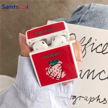 Samtsui Earphone Case For Apple AirPods Charging Box Cute Cartoon Fruit Party  Soft TPU Bag Airpods Accessories Cases Capa
