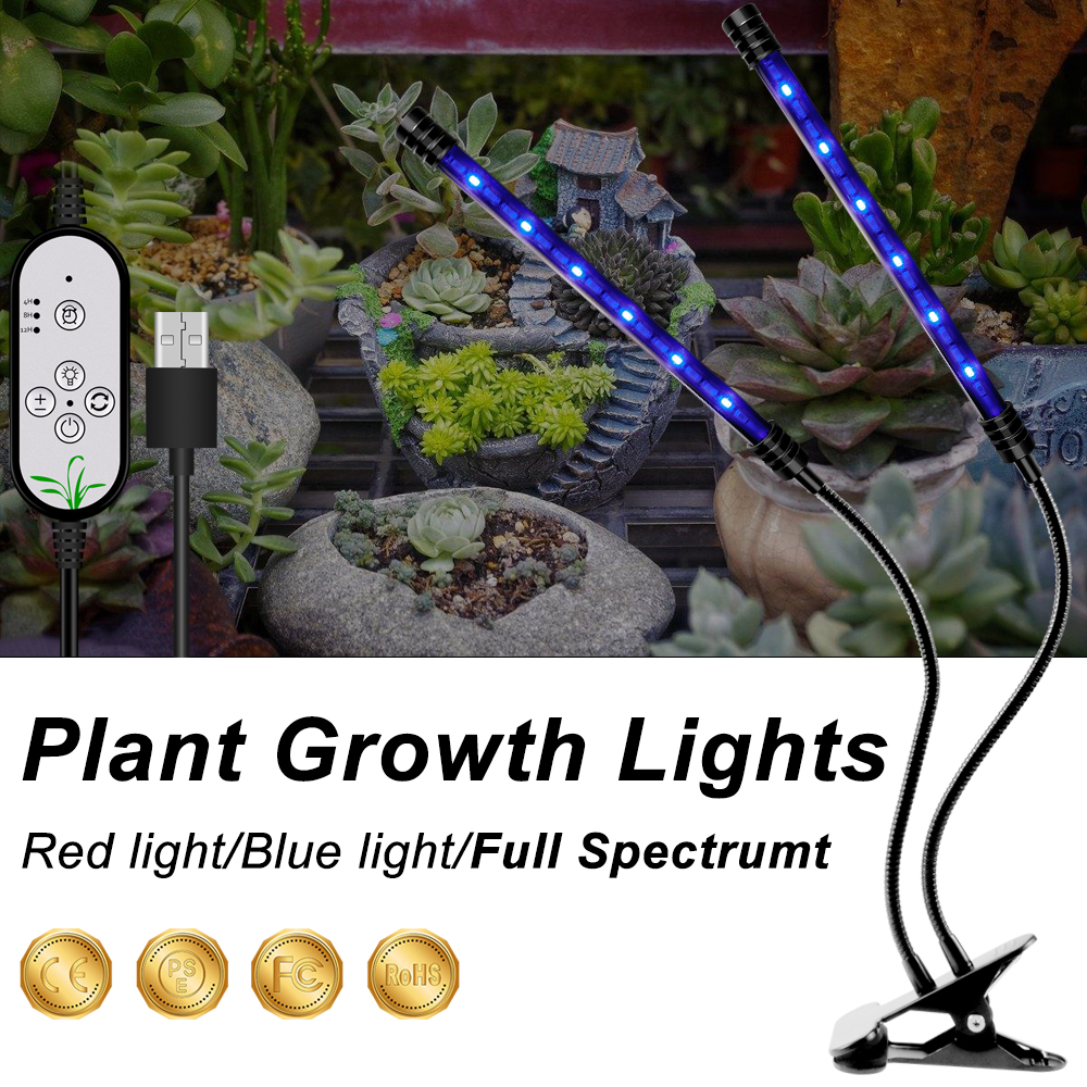 WENNI Grow Light LED Full Spectrum Lamp USB Flower Seedling Plant Growing Lamp Greenhouse LED Light 5V LED Hydroponics Lighting