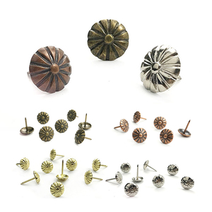 100Pcs Bronze Upholstery Decorative Nails Tacks Applied Jewelry Gift Box Table Pushpins Furniture Hardware Woodwork Tool 11X16mm