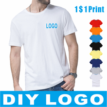 LUCKY 2020 summer casual cheap short-sleeved T-shirt cotton round neck LOGO custom men and women T-shirt